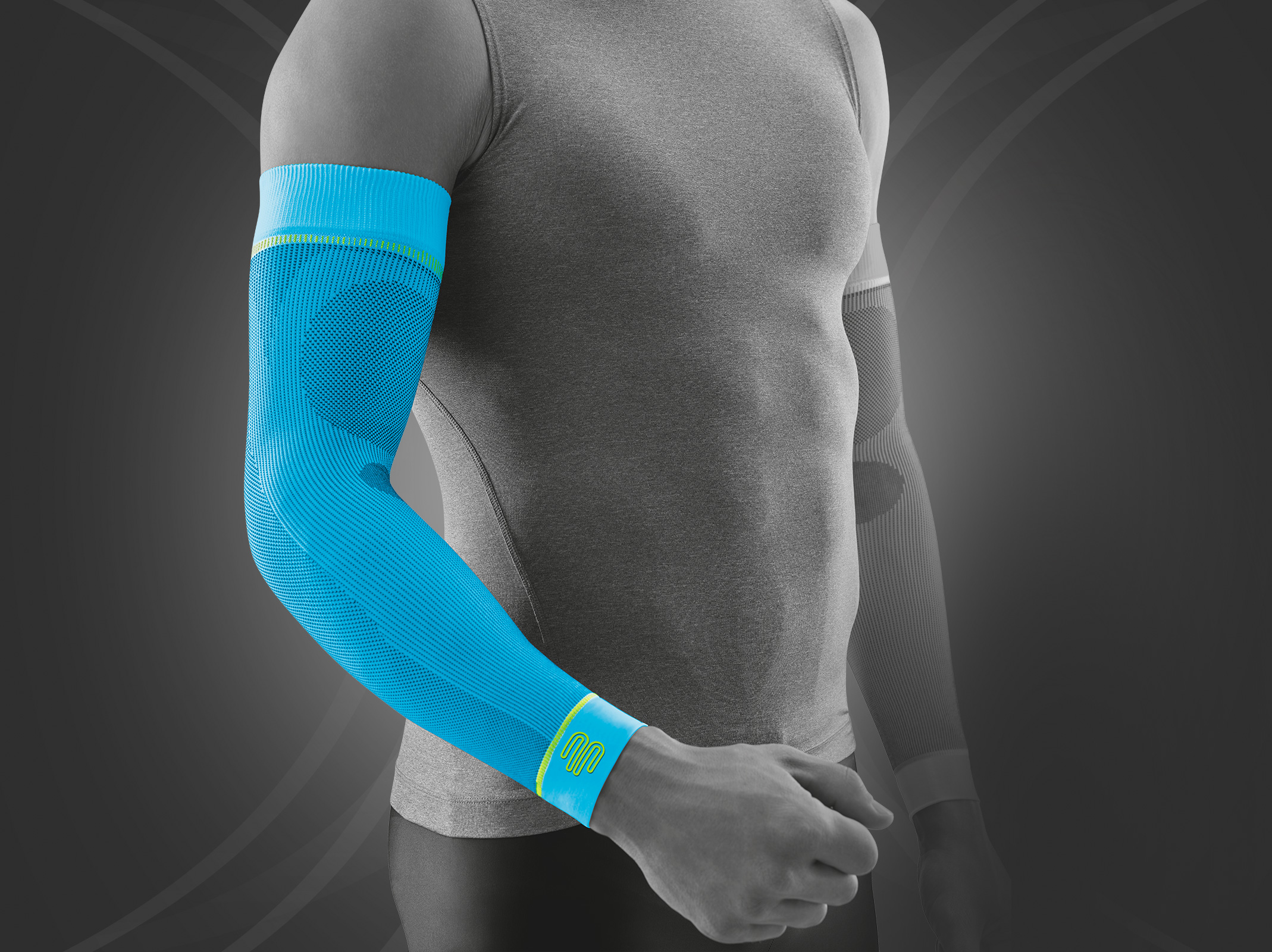How wear to long arm compression sleeves