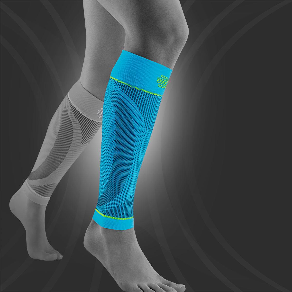 """Unisex Bauerfeind Kompressions-Wadenbandage /""""Sports Compression Sleeves Lower Leg/"""" Beinstulpen f/ür Ball- /& Ausdauersportarten 1 Paar Sleeves f/ür die Waden"""