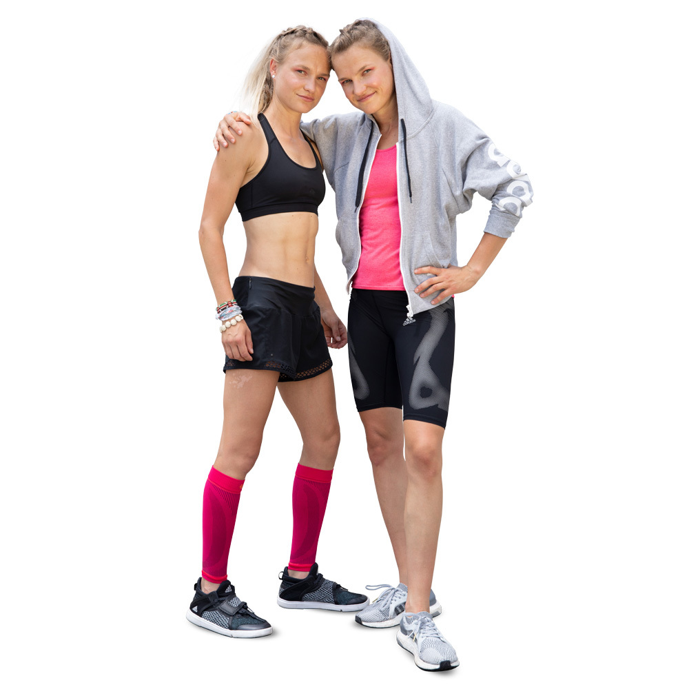 hahner twins casual hoodie pink lower leg sleeves bauerfeind sports